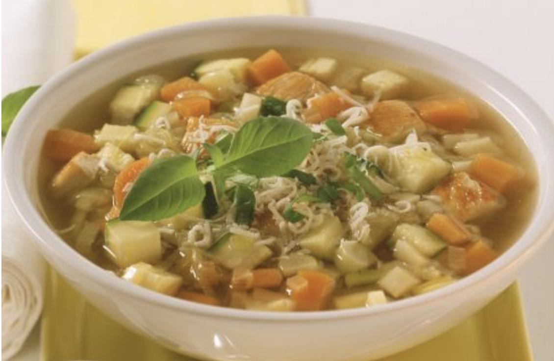 Kraftsuppe mit Pute